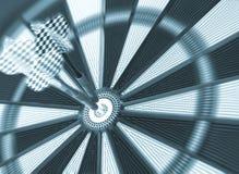 Colpendo bulls-eye (tono blu) Immagini Stock Libere da Diritti