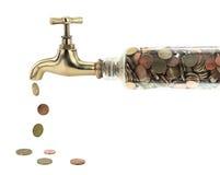 Colpetto dei soldi Immagini Stock