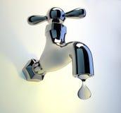 Colpetto del rubinetto Fotografie Stock Libere da Diritti