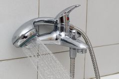 Colpetto dell'acquazzone della stanza da bagno Immagine Stock