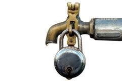 Colpetto di acqua con la serratura Fotografie Stock Libere da Diritti