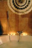 colpetto e bolle del bagno immagini stock