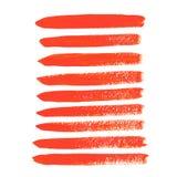 Colpi acrilici arancio della spazzola Fotografia Stock Libera da Diritti