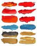 Colpi acrilici astratti della spazzola Fotografie Stock