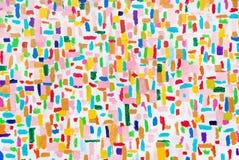 Colpi acrilici variopinti della spazzola di colore Fotografie Stock Libere da Diritti