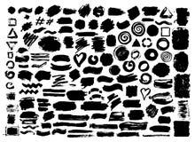 Colpi asciutti della spazzola della pittura astratta disegnata a mano di lerciume royalty illustrazione gratis