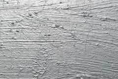 Colpi astratti della spazzola con pittura d'argento Fotografia Stock