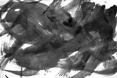 Colpi astratti della spazzola dell'acquerello di pittura sul backgr del Libro Bianco illustrazione vettoriale