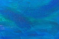 Colpi astratti della spazzola di verde blu Fotografia Stock