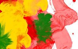 Colpi Colourful su tela bianca Fotografia Stock Libera da Diritti