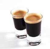 Colpi del caffè espresso Immagini Stock