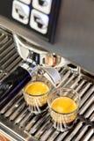 Colpi del caffè espresso del caffè Immagini Stock