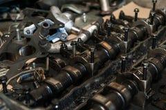 Colpi del motore di automobile Fotografie Stock Libere da Diritti