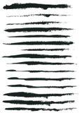Colpi del pennello dell'acquerello Fotografie Stock Libere da Diritti
