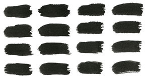 Colpi del pennello dell'acquerello Immagini Stock