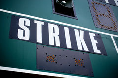 Colpi del tabellone segnapunti di baseball Fotografia Stock Libera da Diritti