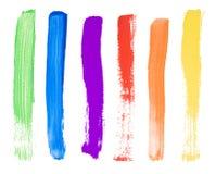 Colpi della spazzola Fotografia Stock Libera da Diritti