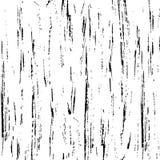 Colpi della spazzola del nero di struttura del fondo su fondo bianco Immagine Stock