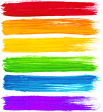 Colpi della spazzola dell'acquerello dell'arcobaleno di vettore Fotografie Stock