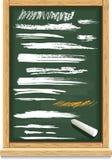 Colpi della spazzola di gesso Fotografie Stock Libere da Diritti