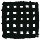 Colpi della spazzola e del quadrato nero Immagine Stock Libera da Diritti