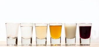 Colpi di alcool fotografie stock