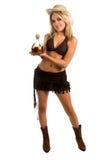 Colpi di Tequila del Cowgirl immagine stock libera da diritti