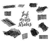 Colpi di vettore dell'inchiostro illustrazione di stock