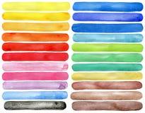 Colpi dipinti a mano della spazzola dell'acquerello Fotografie Stock Libere da Diritti