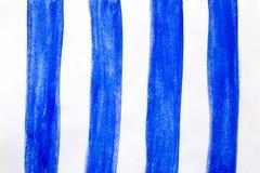 Colpi dipinti a mano della spazzola dell'acquerello, linea, insegne Su fondo bianco illustrazione vettoriale