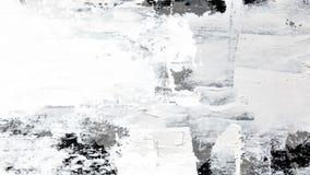 Colpi dipinti a mano della spazzola della pittura dell'olio bianco tecnico royalty illustrazione gratis