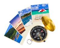Colpi e bussola della spiaggia di estate Fotografia Stock Libera da Diritti