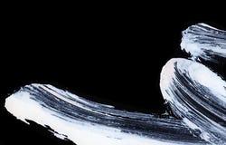 Colpi espressivi bianchi della spazzola per gli ambiti di provenienza creativi, innovatori, interessanti nello stile di zen Fotografia Stock