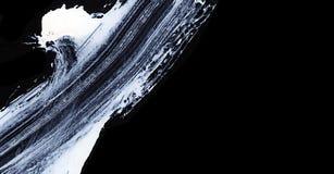 Colpi espressivi bianchi della spazzola per gli ambiti di provenienza creativi, innovatori, interessanti nello stile di zen Fotografie Stock