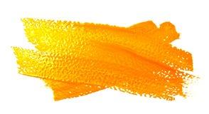 Colpi gialli del pennello isolato Fotografia Stock Libera da Diritti