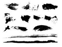 Colpi grungy della spazzola dell'acquerello Fotografia Stock