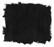 Colpi neri della spazzola dell'inchiostro di lerciume Fotografia Stock