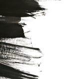 Colpi neri della spazzola su Libro Bianco Fotografie Stock Libere da Diritti
