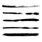 Colpi neri di pittura Fotografia Stock