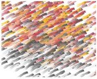 Colpi pastelli della spazzola su fondo bianco Fotografie Stock
