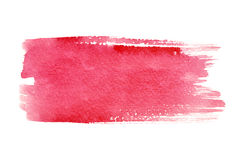 Colpi rossi della spazzola Fotografie Stock