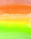 Colpi variopinti della spazzola dell'acquerello Fotografie Stock Libere da Diritti