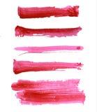 Colpi variopinti della spazzola dell'acquerello di vettore Fotografia Stock