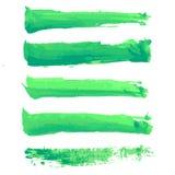 Colpi variopinti della spazzola dell'acquerello di vettore Fotografie Stock Libere da Diritti