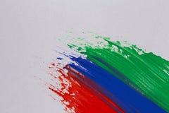 Colpi variopinti della spazzola della pittura acrilica Fotografie Stock Libere da Diritti