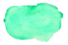 Colpi verdi della spazzola dell'acquerello immagine stock