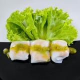 Colpisca l'alimento in vassoi - una serie di stile di immagini del RISTORANTE Fotografia Stock