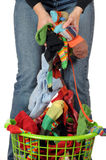 Colpisce con forza la lavanderia Fotografie Stock