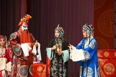 """Colpito dai generali delle donne di Pechino Opera"""" di cattive notizie del  del € di Yang Familyâ immagini stock libere da diritti"""