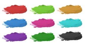 Colpo acrilico astratto della spazzola di colore Isolato Fotografia Stock